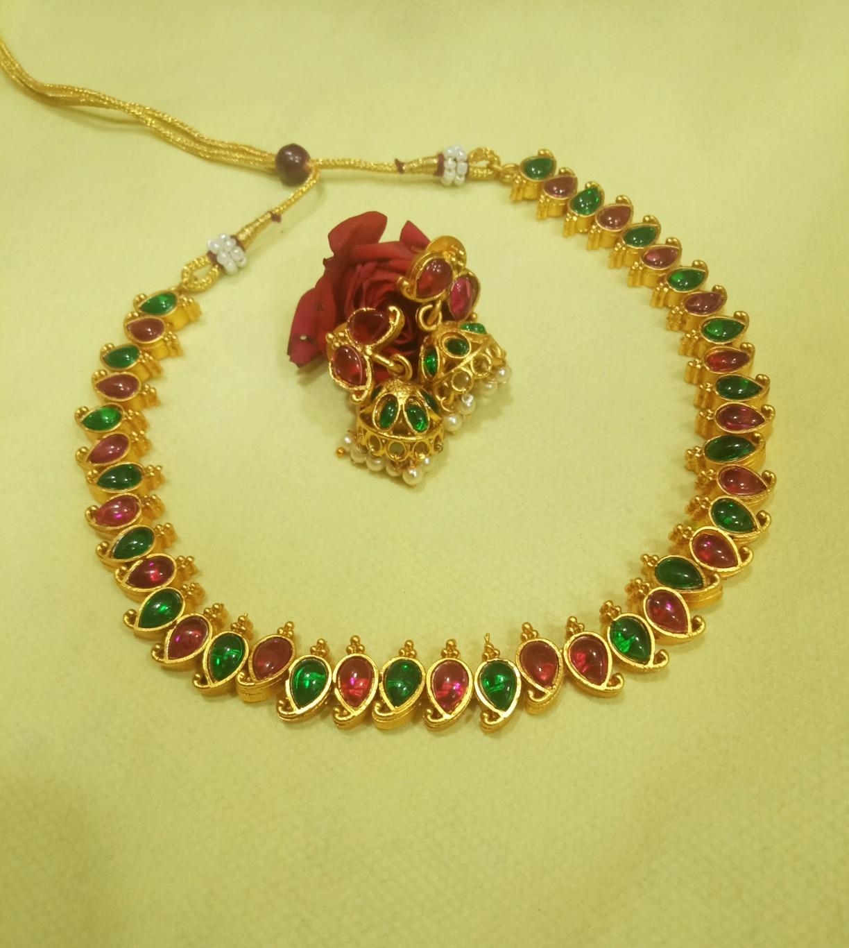 Kerala Mango Mala Designs & Earrings