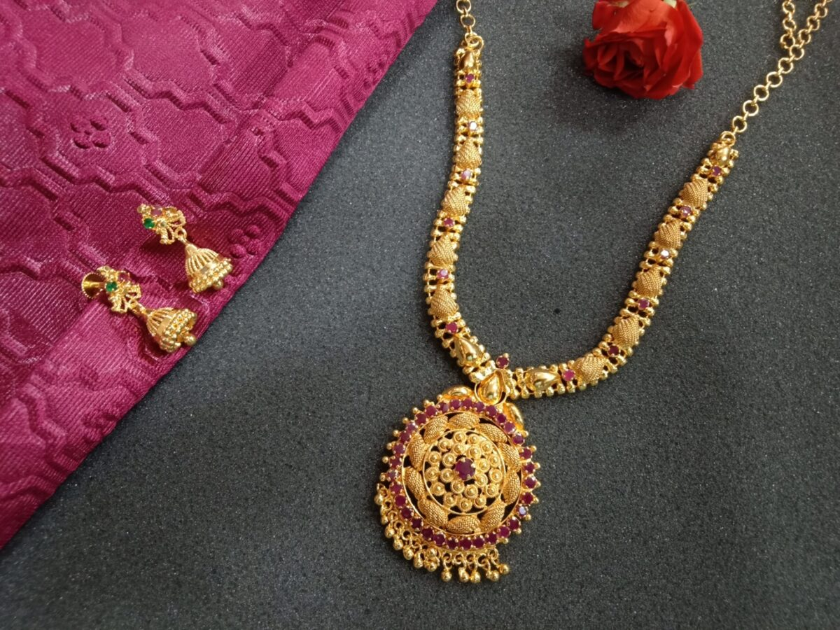 Ad Necklace Set Online With Earrings
