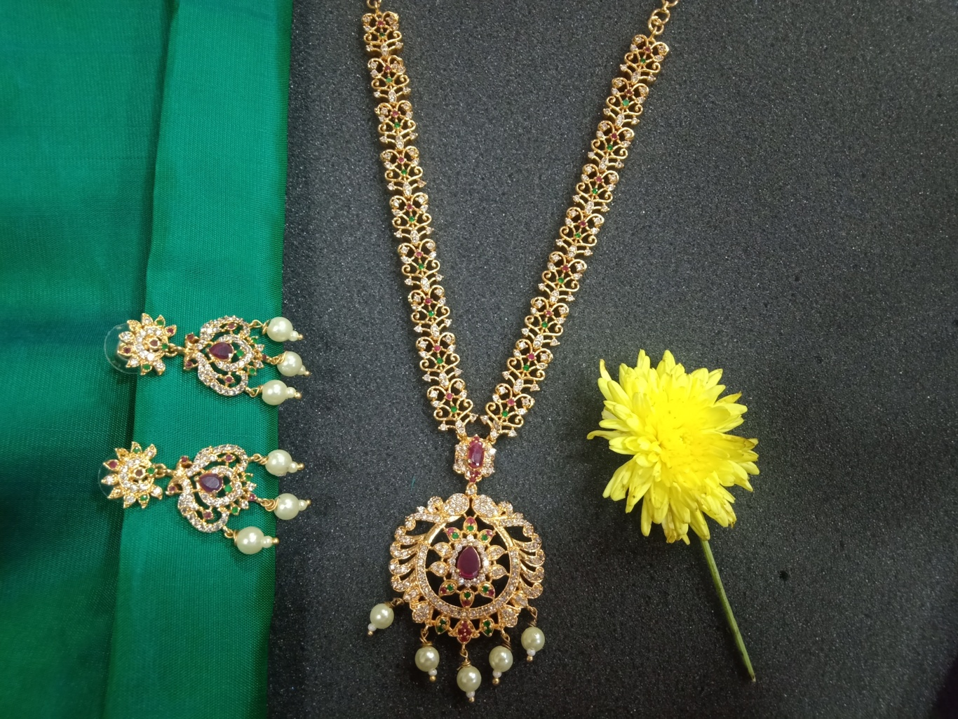 Cz Stone Necklace Sets With Earrings