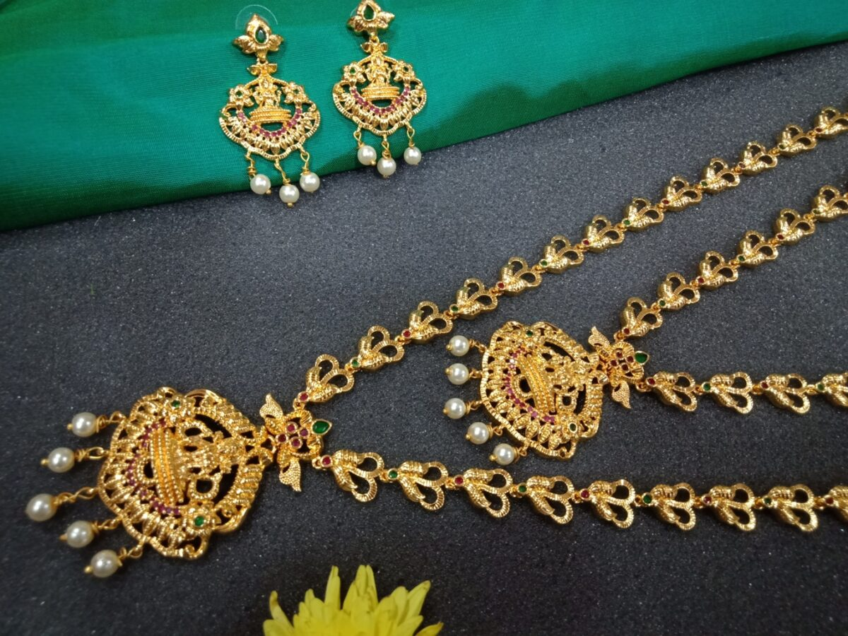 Gold Temple Jewellery Set For Marriage Bridal Sets