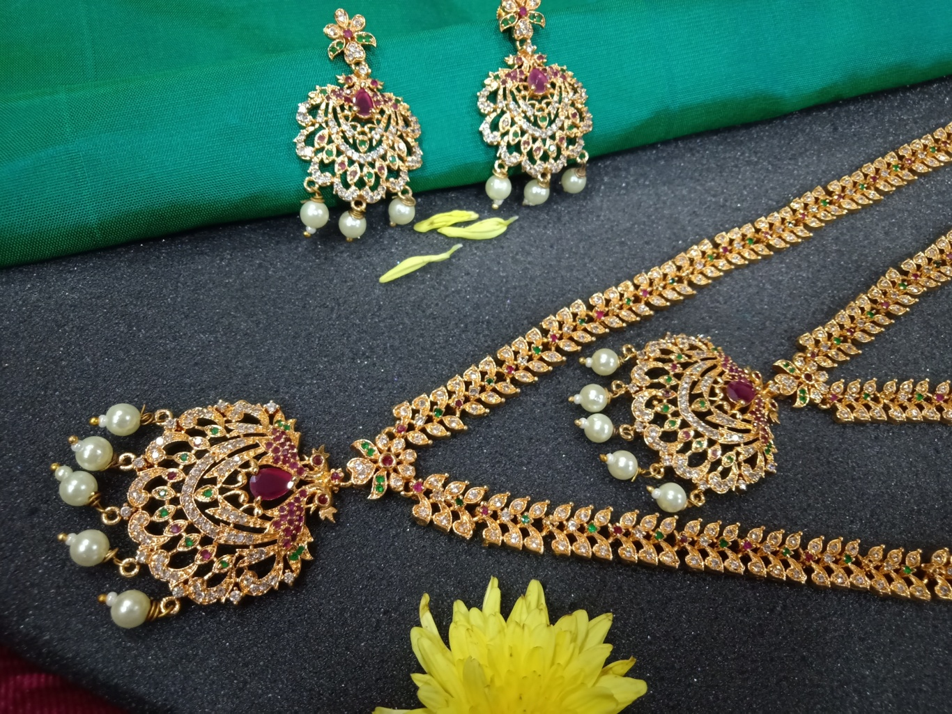 South Indian Bridal Jewellery Set One Gram Gold
