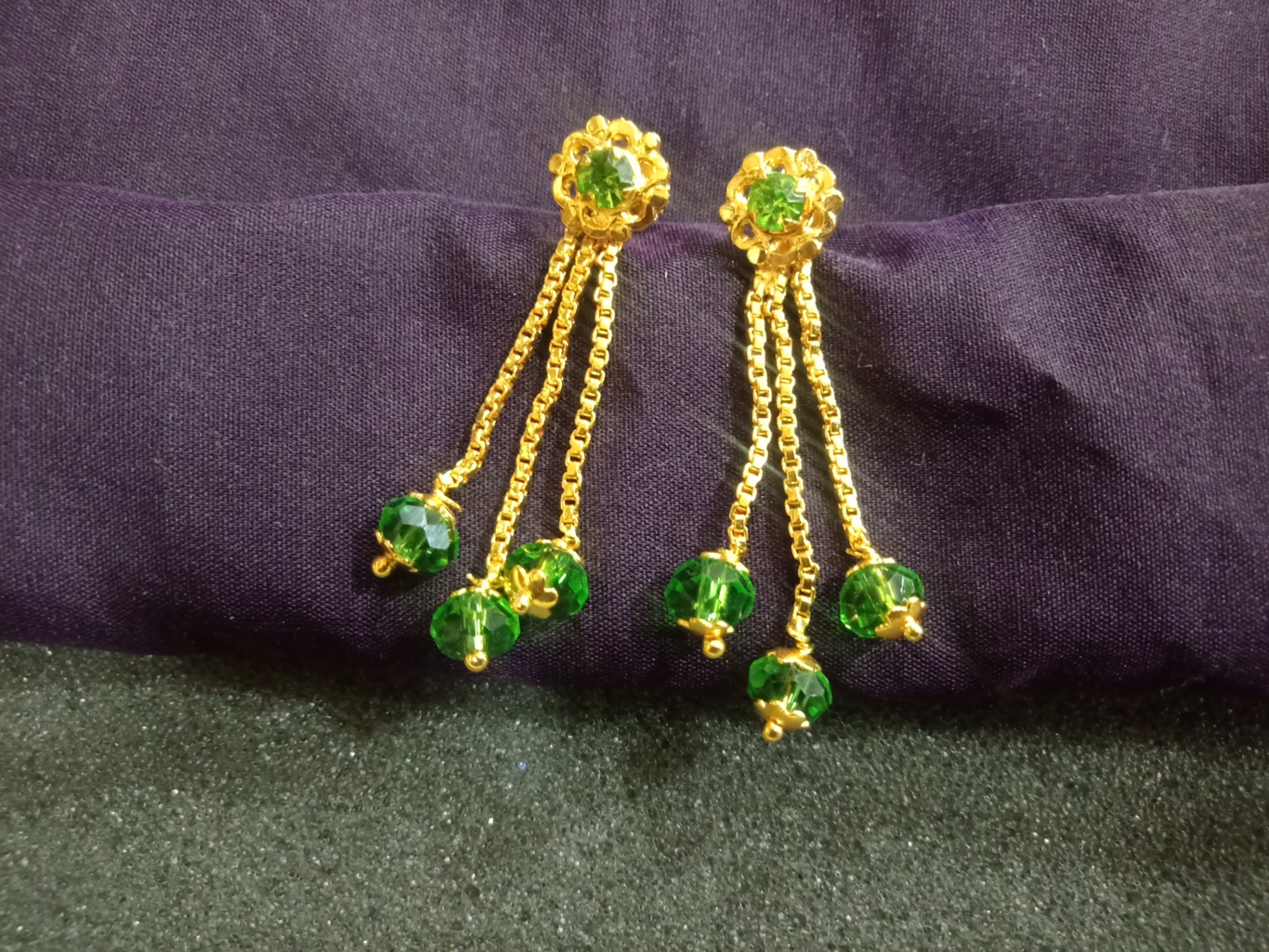 gold hanging earrings designs one gram gold