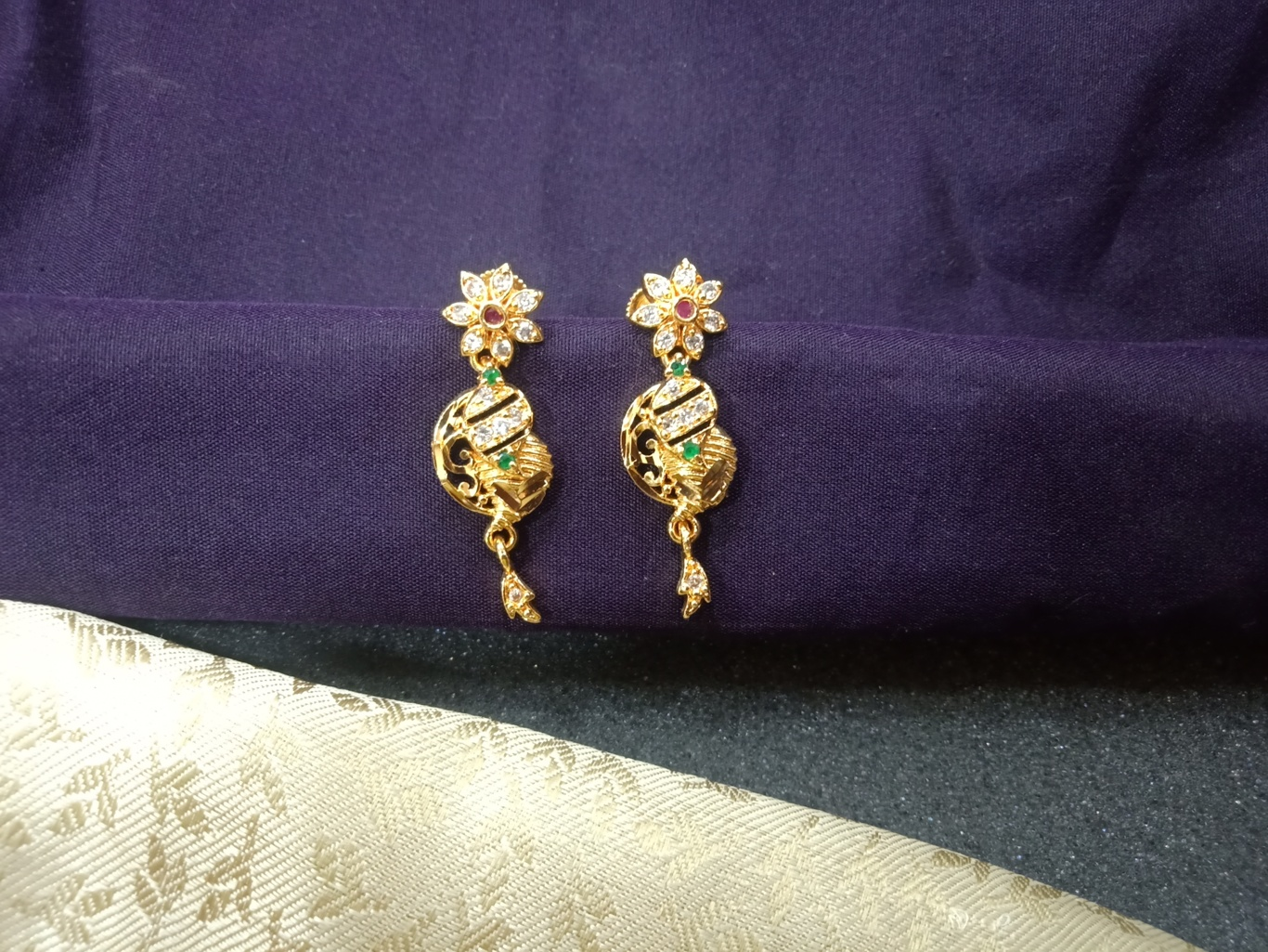 jhumka earrings gold jewelry one gram gold