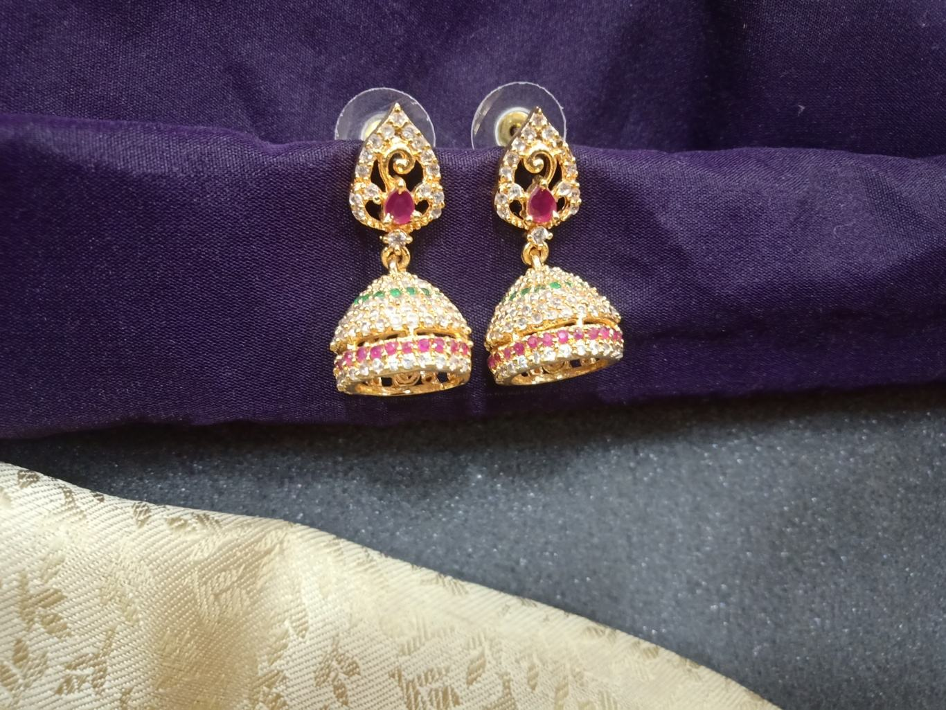 one gram gold earrings online shopping, one gram gold earrings with price, 1 gram gold jewellery online shopping cash on delivery,