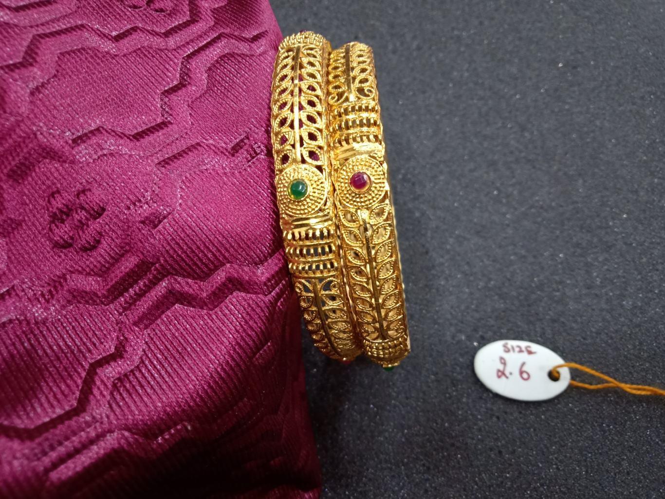 bangles latest one gram gold jewellry