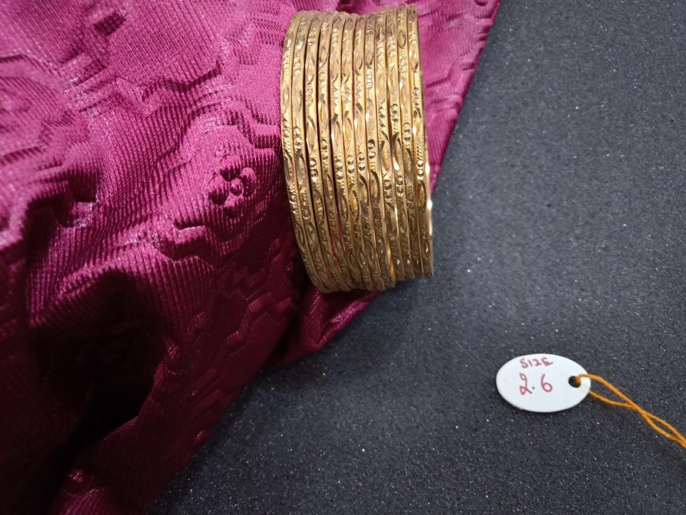 bangles design in one gram gold online